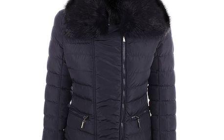 Dámská tmavě modrá bunda s velkým límcem B.style