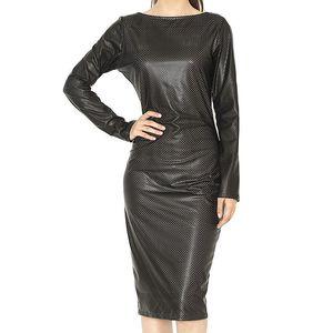 Dámské černé šaty se zipem Santa Barbara