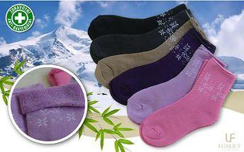 6 párů kvalitních bambusových ponožek - pánské i dámské