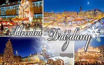 Prožijte kouzelnou atmosféru ADVENTNÍCH DRÁŽĎAN! Vyrazte na jednodenní zájezd na nejkrásnější vánoční trhy v Německu, zahřejte se svařeným vínem, obejděte památky a nakupte vánoční dárky! Odjezd z Prahy 5. nebo 6. 12., kdy probíhá proslulý festival štol!