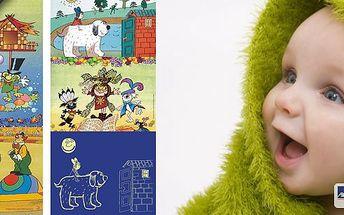 Dětské pohádkové svítící tapetky Rákosníček, Maxipes Fík, Bob a Bobek, Malá čarodějnice. Vyzdobte dětem pokojíček krásnými svítícími tapetkami na výběr nejznámější postavičky z Večerníčku.