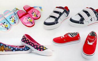 Dětské boty s oblíbenými hrdiny