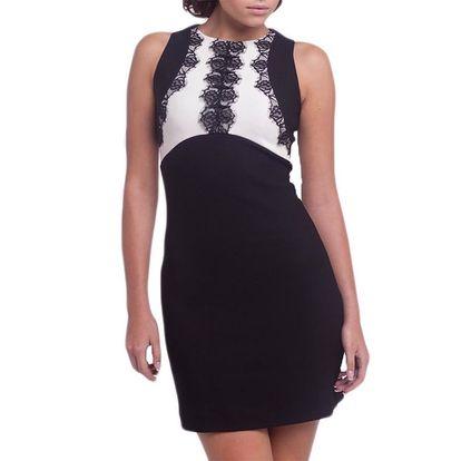 Dámské černo-bílé šaty bez rukávů Arefeva