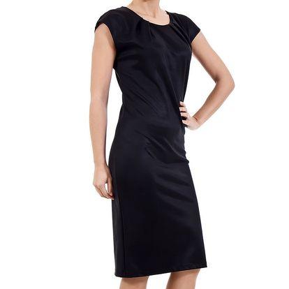 Dámské černé šaty s krátkým rukávem SforStyle