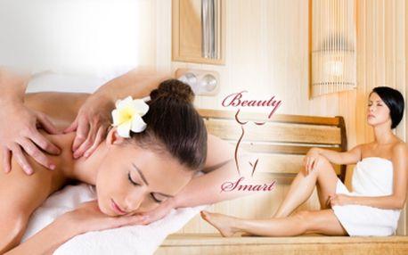 Úžasný relaxační 1hod. BALÍČEK pro 1 osobu za pouhých 350 Kč v salonu BEAUTY SMART - Praha! 20min. INFRA SAUNA, 30min. RELAXAČNÍ MASÁŽ zad a šíje, 10min. BAHENNÍ terapie nebo ČOKOLÁDOVÝ ZÁBAL! Relaxační relax pouze pro Vás!
