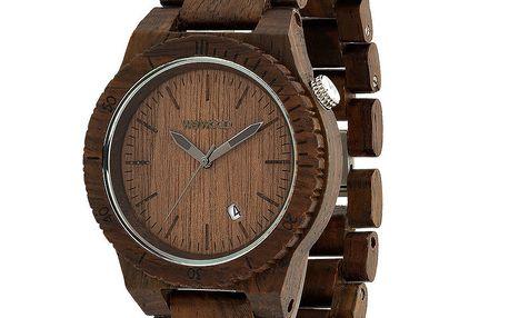 Dřevěné hodinky Beta Chocolate