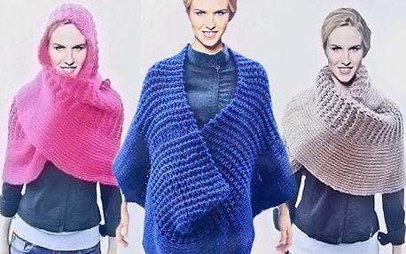 Variabilní pletená pelerína