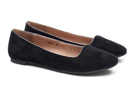 Dámské černé semišové balerínky Shoe the Bear
