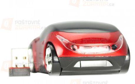 Bezdrátová optická myš ve tvaru Ferrari - červená a poštovné ZDARMA! - 30300109