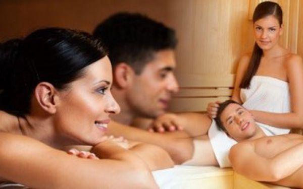 Super relax při párové masáži a pobytu v sauně. Vezměte partnera nebo kamarádku!