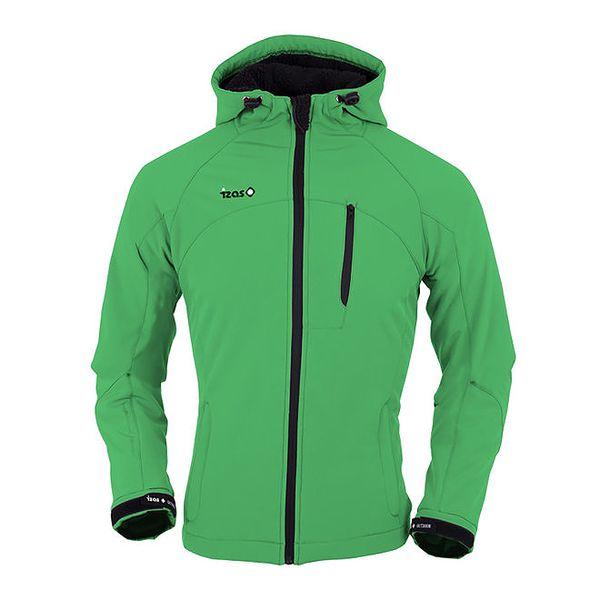 Dámská zelená softshellová bunda s náprsní kapsou Izas