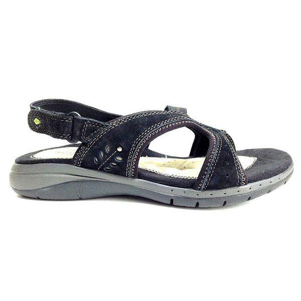 Dámské černé zdravotní sandály Via Uno
