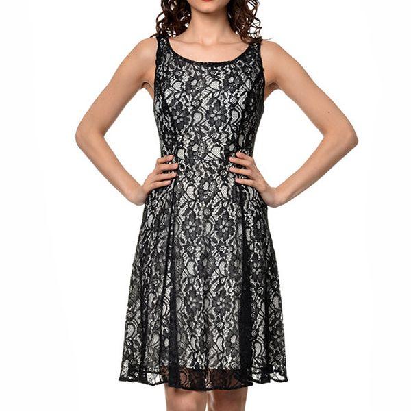 Dámské šaty s černou krajkou Dia Vynne