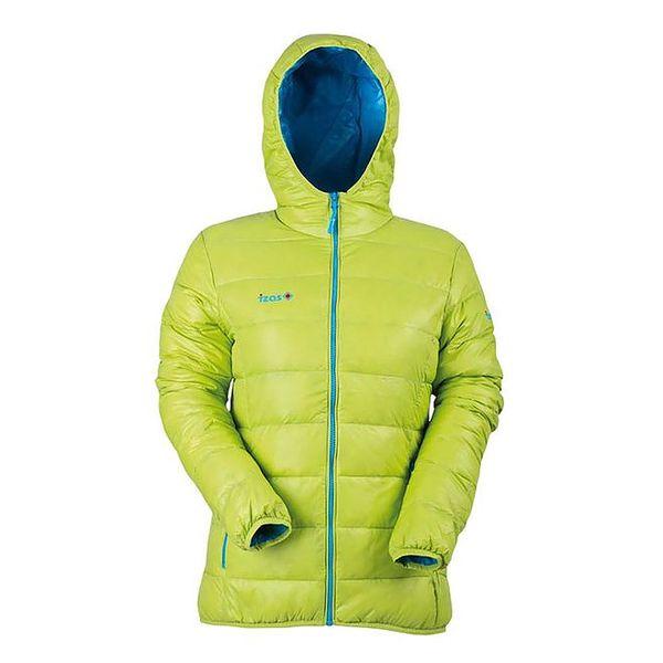 Dámská péřová bunda v limetkově zelené barvě Izas