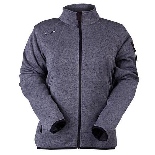 Dámská tmavě šedě melírovaná fleecová bunda Izas