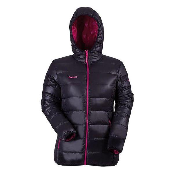 Dámská péřová bunda v černé barvě Izas