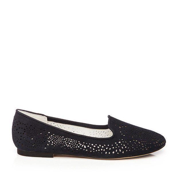 Dámské černé loafers s perforací Keddo
