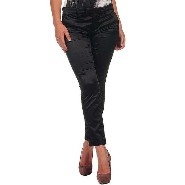 Dámské černé lesklé kalhoty Calvin Klein