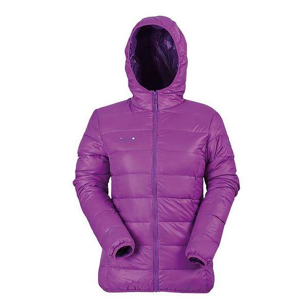 Dámská péřová bunda ve fialové barvě Izas
