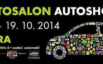 Vstup na AUTOSALON - AUTOSHOW NITRA 2014 + exkluzivní soutěž o 3 vozy