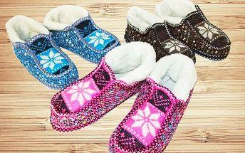 Dámské kožešinové papuče Finlandia levně!