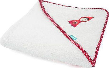 Hebký dětský ručník s kapucí Grandma 100x100 cm