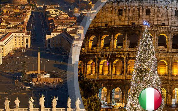 Adventní Řím na 4 dny s ubytováním v hotelu a snídaní