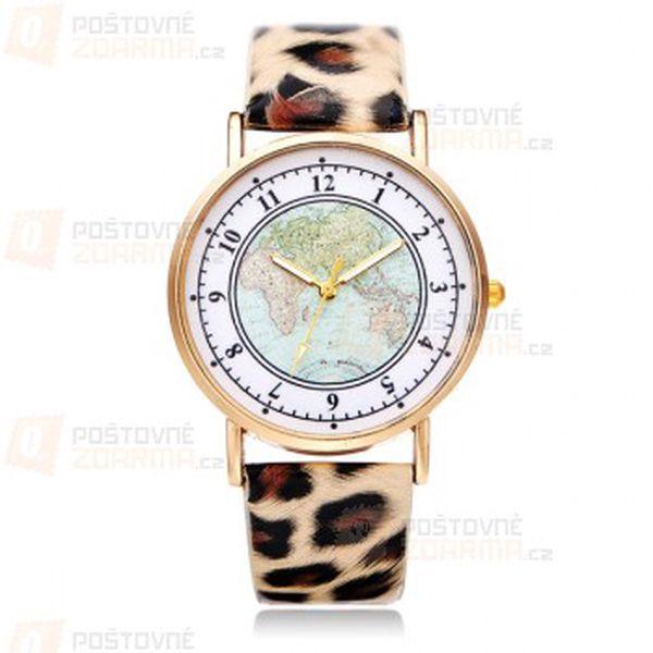 Dámské hodinky s motivem mapy a poštovné ZDARMA! - 29714095
