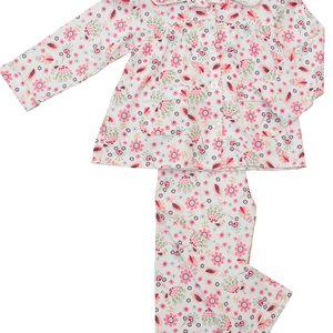 Tradiční dívčí kytičkované pyžamo