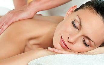 10x hodinová relaxační masáž zad, rukou a nohou