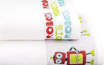 Set - 2ks jemné ručníky Robots (50x100 cm +70x140 cm)