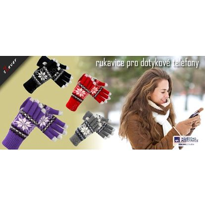 Speciální zimní rukavice pro dotykové telefony. Ovládejte lehce svůj chytrý telefon i vtěch největších mrazech! Rukavice se speciálním zakončením prstů Vám umožní jednoduché ovládání dotykových displejů nejen telefonů, ale i tabletů!