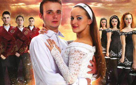 Vstupenka na irskou taneční show Love in Flames v podání tanečního souboru Merlin.
