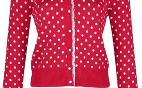 Kabát, červená, bílá