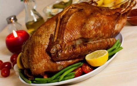 Domácí paštika a pečená kachna se zelím a knedlíkem pro DVA