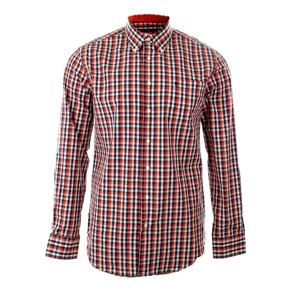 Pánská červená kostkovaná košile Pietro Filipi