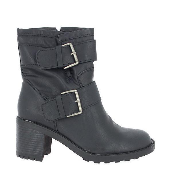 Dámské černé boty se zipem na boku Shoes and the City