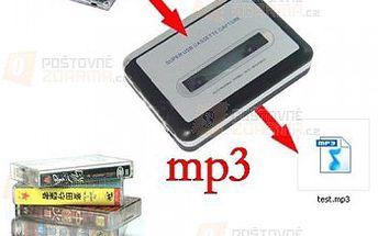 Kazetový enkodér - umí digitalizovat nahrávky z MC kazet do MP3 a poštovné ZDARMA! - 30201782