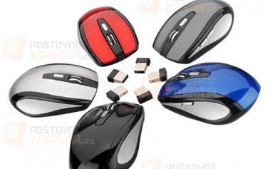 Bezdrátová optická myš - na výběr z 5 barev a poštovné ZDARMA! - 30301501