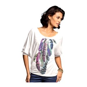 Košile, bílá, vícebarevná