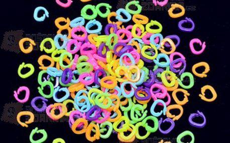 Barevné plastové C klipy - 100 kusů v balení a poštovné ZDARMA! - 29914180