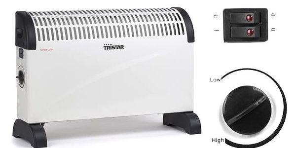 Horkovzdušný elektrický ohřívač Tristar s ventilátorem v bílé barvě