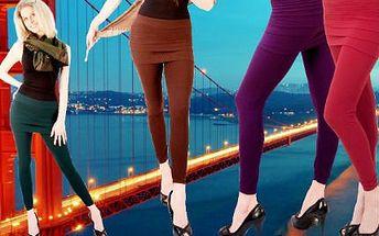 Stylové a trendy dámské legíny se sukní v šesti barvách