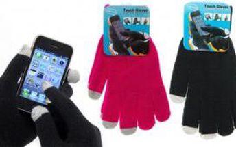 Dotykové rukavice na telefon