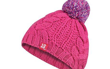 Příjemná pletená růžová čepice Loap Martha