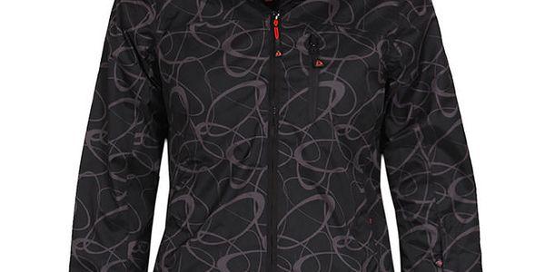 Dámská černá lyžařská bunda se vzorem Bergson