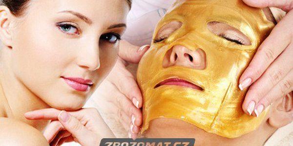 Pleťová maska s 24-karátovým zlatem!