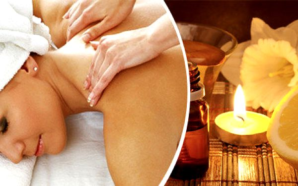 Energizující masáž teplým citronovým olejem a rašelinovým zábalem v salonu Bamizi
