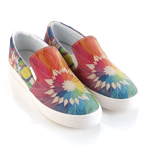 Dámské sneakers s barevnými listy Elite Goby