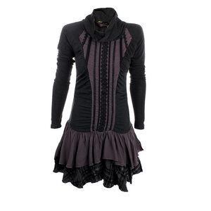Dámské antracitové šaty s volány Angels Never Die
